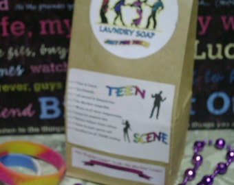 One and Only on Etsy--TEEN SCENE--Laundry Soap--Specially made Just for TEENS--64 to 128 Loads--You choose your Fav Scent