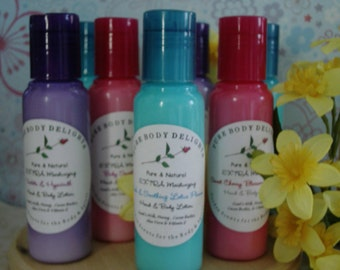 Lucky Girl Boutique--SPECIAL Pure Body Delights--EXTRA Moisturizing CREAMY and RICH--Goats Milk-Cocoa Butter and Aloe--Hand and Body Lotion--FRENCH VANILLA CUPCAKE--YUMMY