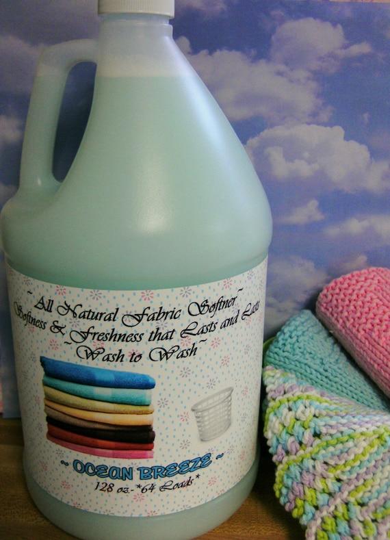 FRESH LINEN--Natural Earth-friendly Clothing,Fabric Softener---Wonderful on Bed Linen--BIG Gallon Jug