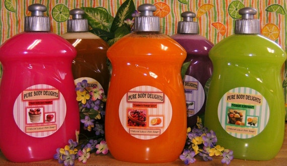LIQUID DISH SOAP--Made from Scratch--Pick your Favorite Scent