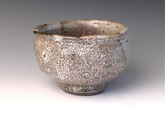 Faceted Shino teabowl