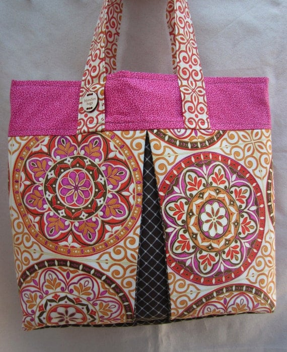 """RESERVED for SUSAN Hot Pink  """"Moroccan Ballroom"""" Hand Sewn Oversized Tote by Blondies Bags"""