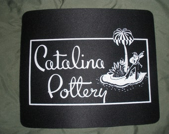 Old Catalina Island Pottery Lable Mouse Pad
