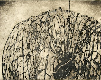 Abstract Print in Sepia, Hand Pulled Original