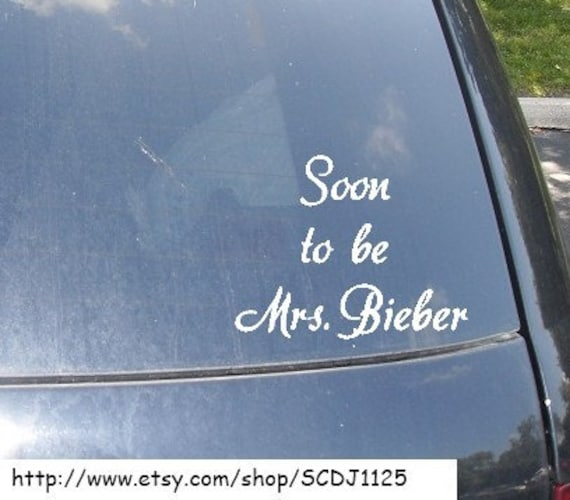 Mrs. Justin Bieber Car Sticker