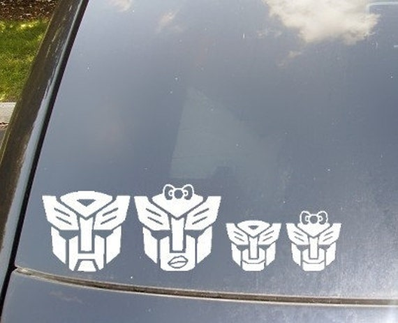 Autobots Family Car Sticker Now with Autobots Cat and Dog