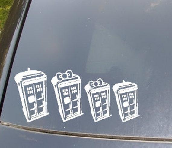 Tardis Family Car Sticker