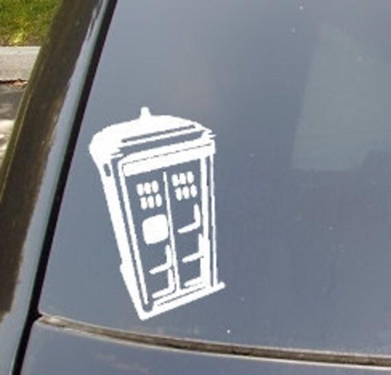 Large Tardis Car Sticker