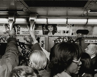 NYC Subway Photo 1980s - Hangers by TheConnArtist