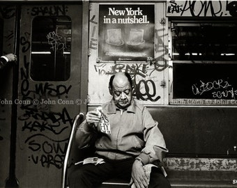 NYC Subway Photo 1980s - NY Nut by theconnartist