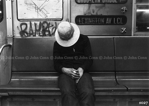 NYC Subway Photo 1980s - Sombrero by TheConnArtist