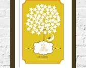 Guestbook Tree Poster for Baby Ceremony- Celestial - 20X30 Inches