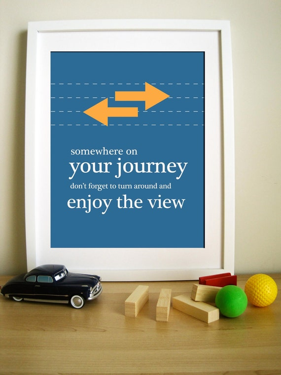 Modern Print for Kids- Journey Quote 11X14 Inches