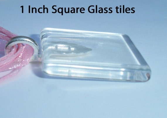 Item 122 - Qty 10 1 inch square glass tiles