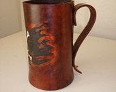 Custom Made Leather Mug