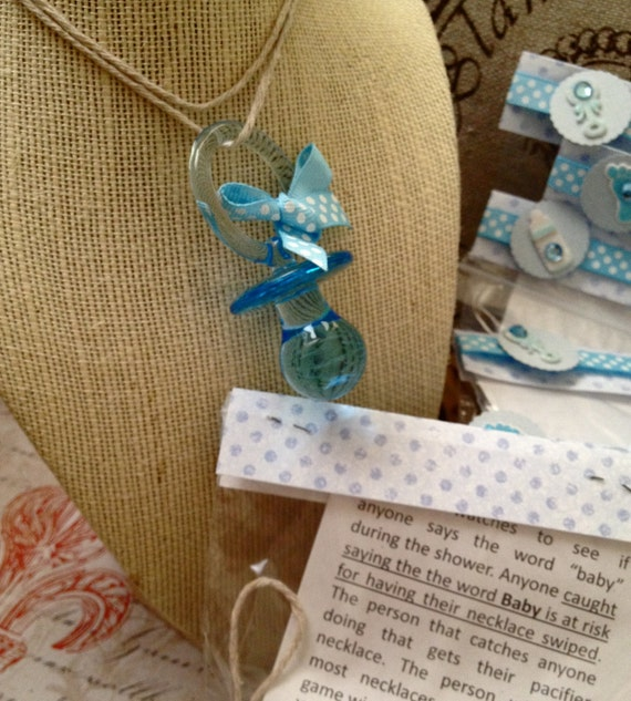 Baby Shower Pacifier Game Individually Wrapped with Game Instructions included.