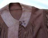 Brown 1930s Afternoon Dress, Size Medium