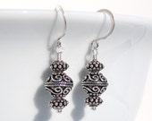Handmade Sterling Silver Bali Bead Earrings 002
