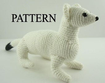 Ermine Stoat Weasel Crochet Pattern  Amigurumi Ermine Animal Pattern Adobe Pdf Digital Download  File