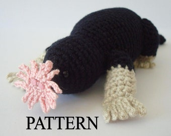 Star Nosed Mole Crochet Pattern Amigurumi Mole Pattern Stuffed Mole Pattern Crochet Animal Pattern Amigurumi Animal Pattern Adobe Pdf File