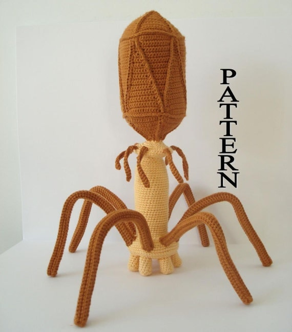 Bacteriophage Virus Digital File Crochet Pattern Amigurumi Adobe Pdf
