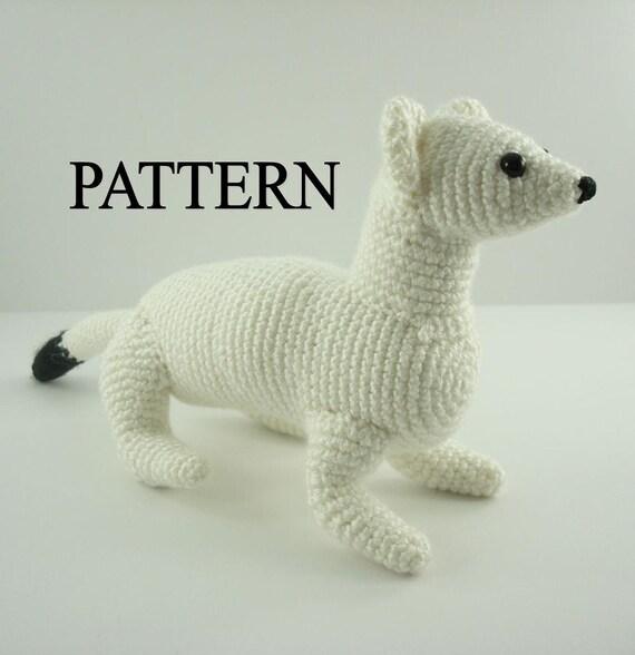 Ermine Stoat Weasel Crochet Pattern  Amigurumi Ermine Animal Pattern Adobe Pdf Digital Download  File