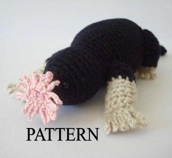Star Nosed Mole Crochet Pattern Amigurumi Mole Pattern Stuffed Mole Pattern Crochet Animal Pattern Amigurumi Animal Pattern Adobe Pdf File