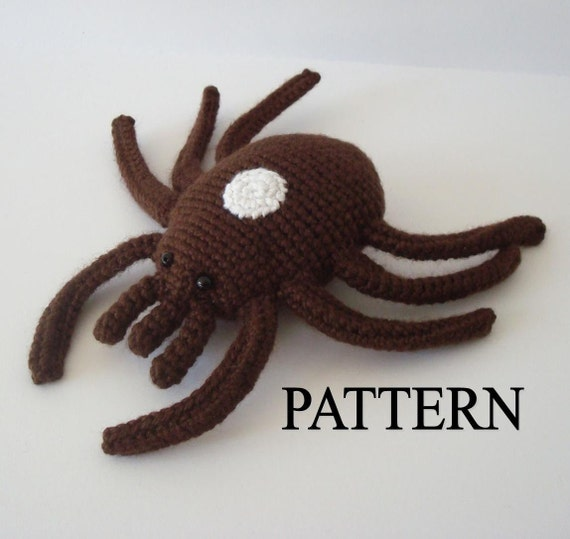 Female Lone Star Tick Crochet Pattern Amigurumi Tick Pattern Digital Download Stuffed Tick Pattern Adobe Pdf File