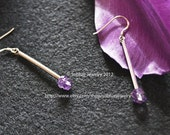 The match for senses amethyst sterling silver earrings