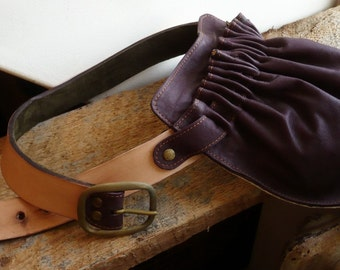 Leather Hip Bag- Leather Fanny Pack