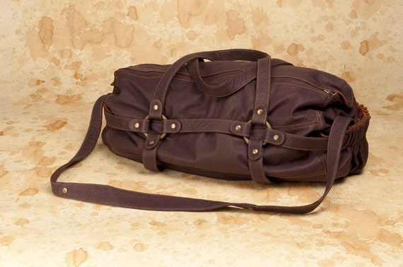 Slouchy Duffle- Leather Carry On Bag