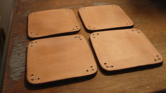 Square Leather Coasters