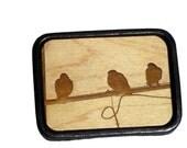 Birds on a Wire Belt Buckle