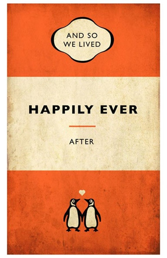 Penguin Book Cover Posters : Penguin style book poster signed limited by reecewardprints