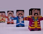Beatles paper toy set