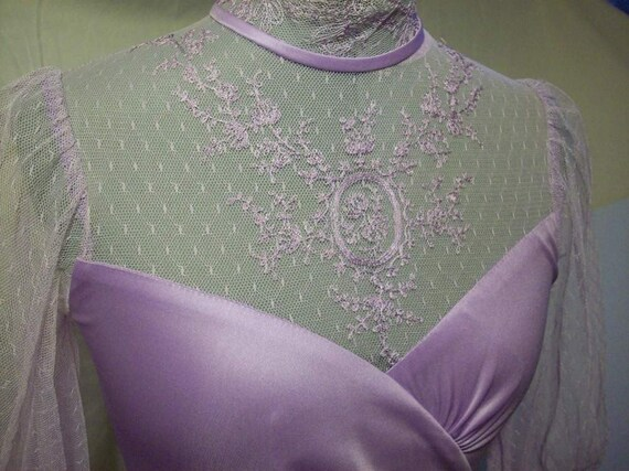 RESERVED Vintage Lavender and Lace Steampunk Style JC Penney's Fashions Dress