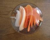 CLOSING - Vintage Orange Glass Paperweight