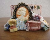 RESERVED (seannach) - Vintage Cameo Business Card Stand