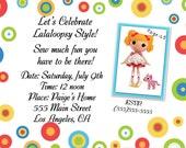 Lalaloopsy Spot Inspired Birthday Invitation
