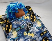 """Itty Bitty Sweet Dreams Sleeping Bag and Pillow Set for 7"""" to 11"""" Waldorf Dolls in Batman"""