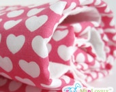 Eco Friendly  Baby and Toddler Blanket - Pink  Love