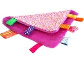 Taggie Blanket - Pink  Flowers