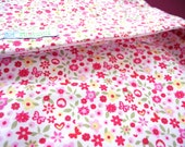 Eco Friendly floral cotton baby Swaddle Wrap  - Hot Pink  Flower Field - New born wrap