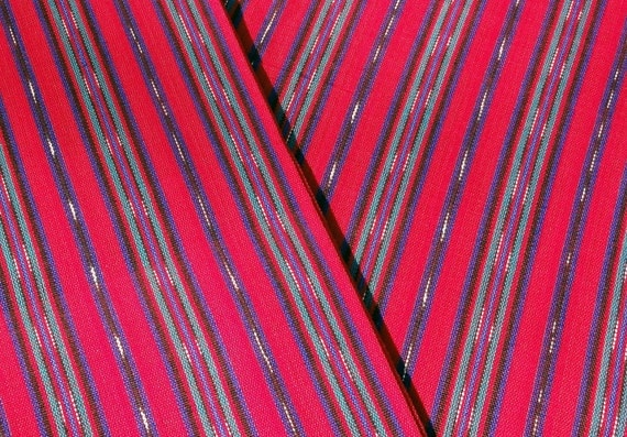 Guatemalan Fabric in Red Stripes