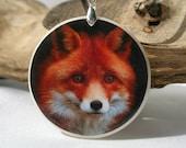 Fox, Polymer Clay Power Animal Necklace