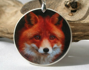 Fox, Polymer Clay Power Animal Necklace