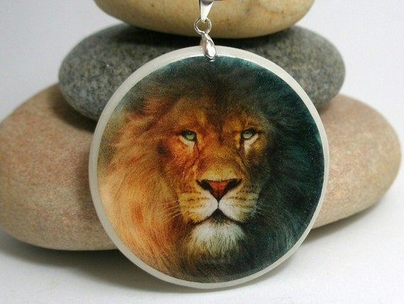 Leo horoscope polymer clay amulet necklace