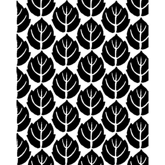 Silk Screen, Leaves, No. 007