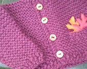 cardigan and hat set - 2 years - plum SALE