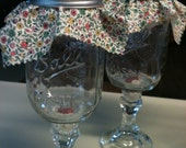 Red Wine Mason Jar Glasses